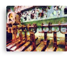 Steampunk - Levers in Underwater Vessel Canvas Print
