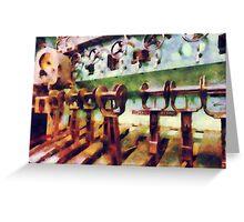 Steampunk - Levers in Underwater Vessel Greeting Card