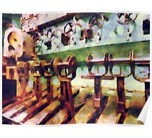 Steampunk - Levers in Underwater Vessel Poster