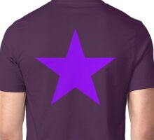 PURPLE, Star, on BLACK, Royalty, Royal, Bright Star, Special, Super nova, Stellar, Achievement, Cool, Unisex T-Shirt