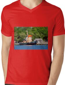 Visiting The Seaport Mens V-Neck T-Shirt