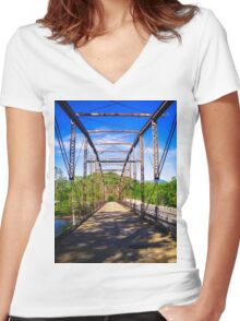 Chart Grid For The Landscape Women's Fitted V-Neck T-Shirt