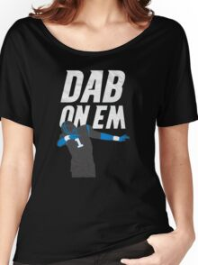 Cam Newton 'Dab On Em' Carolina Panthers Women's Relaxed Fit T-Shirt
