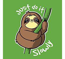Slow sloth Photographic Print
