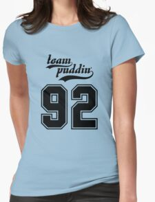 Team Puddin'! (BLACK) Womens Fitted T-Shirt