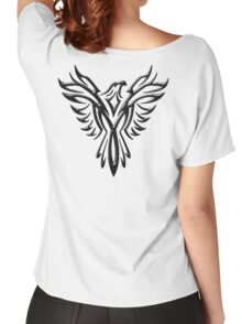 Phoenix, Phenix, Bird, Rising from the flames, Legend, Mythology, Black Women's Relaxed Fit T-Shirt