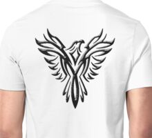 Phoenix, Phenix, Bird, Rising from the flames, Legend, Mythology, Black Unisex T-Shirt