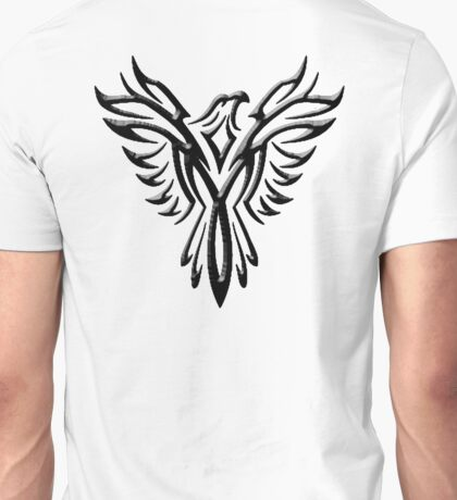 Phoenix, Phenix, Bird, Rising from the flames, Legend, Mythology, Black Unisex T-Shirt