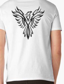 Phoenix, Phenix, Bird, Rising from the flames, Legend, Mythology, Black Mens V-Neck T-Shirt