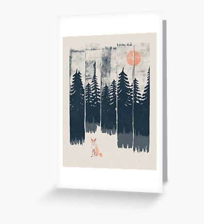 A Fox in the Wild... Greeting Card