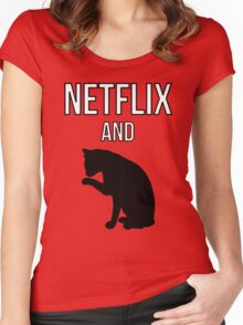Netflix and Cats Women's Fitted Scoop T-Shirt