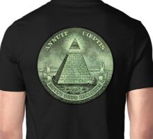 Eye of Providence, America, USA, Mystic, Dollar, Bill, Money, Freemasonry, All Seeing Eye, Pyramid, Masonic Unisex T-Shirt