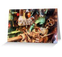 Steampunk - Torpedo Controls Greeting Card