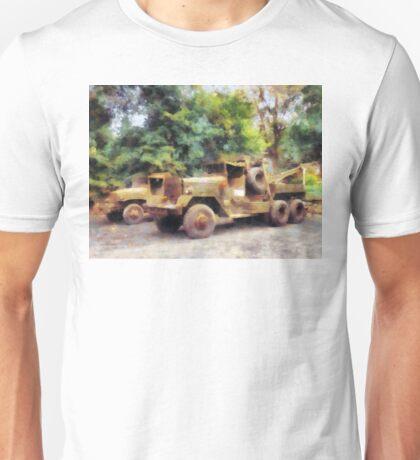 Two Army Trucks Unisex T-Shirt