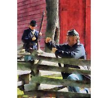 Union Soldier Loading Rifle Photographic Print