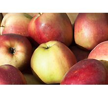 Red apples background Photographic Print