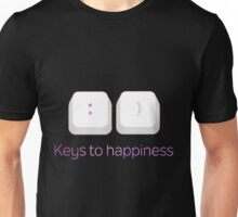 Keys to Happiness Pun Unisex T-Shirt