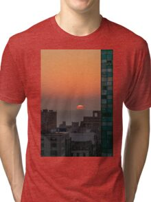 Aerial View of Sunset at the River in Montevideo Uruguay Tri-blend T-Shirt