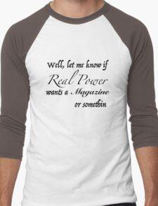 Real Power Men's Baseball ¾ T-Shirt