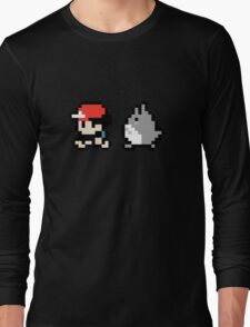Totoro Pokemon Sprite! Long Sleeve T-Shirt