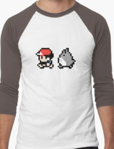 Totoro Pokemon Sprite! Men's Baseball ¾ T-Shirt