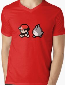 Totoro Pokemon Sprite! Mens V-Neck T-Shirt