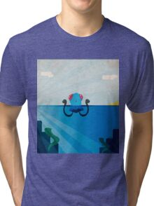 Tentacool in the Surf Tri-blend T-Shirt