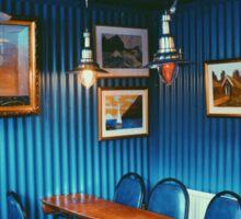 Blue Cafe in Reykjavik, Iceland  Sticker