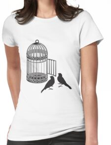 Bird Cage #5  Womens Fitted T-Shirt