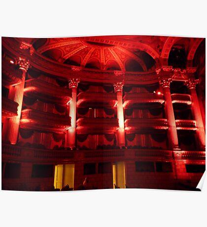 Bordeaux Theatre: Vibrant red now! Poster