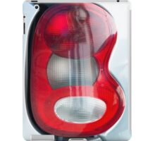 Red headlight of the silver car iPad Case/Skin