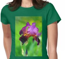 Glowing Iris Womens Fitted T-Shirt