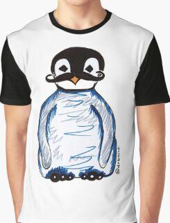 Penguin Mustache Graphic T-Shirt