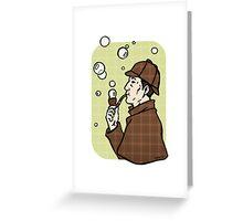 Bubbles, dear Watson Greeting Card