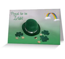 Proud to be Irish Greeting Card