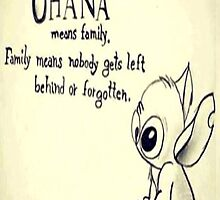 Ohana Means Family Lilo And Stich by sawangomahcase