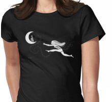 Rabbit in the Moon Womens Fitted T-Shirt