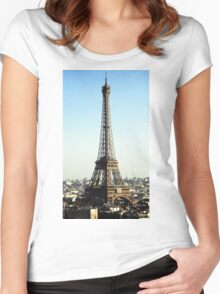 Eiffel tower Women's Fitted Scoop T-Shirt