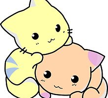 Two Adorable cartoon cats by Luna Snaps
