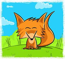 Cute fox by Richard Eijkenbroek