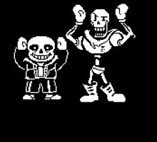 CHEAP UNDERTALE PAPYRUS AND SANS hands up by theCHEAPone