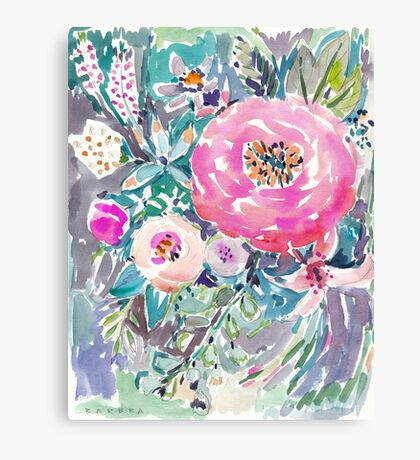 WILD PEONY FLORAL Canvas Print