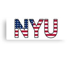 NYU American Flag Canvas Print