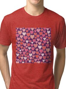 Hearts, Hearts and more Hearts Tri-blend T-Shirt