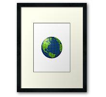 Globe // Earth Graphic Framed Print