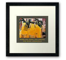 Limoncello (when life gives you lemons) Framed Print