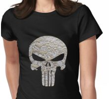 Lace Punisher skull Womens Fitted T-Shirt