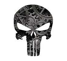 Punk Goth Steampunk Punisher Skull Photographic Print
