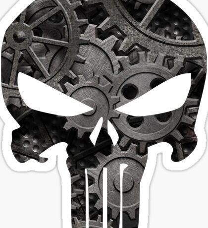 Punk Goth Steampunk Punisher Skull Sticker