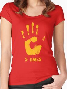 Liverpool FC - LFC - 5 Times Women's Fitted Scoop T-Shirt